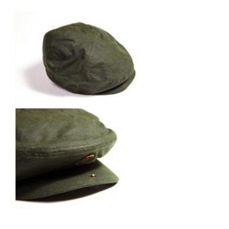 Kasket i grøn eller sort oilskin