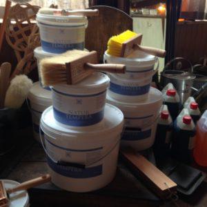 Maling, farve, pigmenter og pensler
