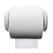 Hvid toiletrulle holder i porcelæn