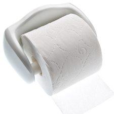 Hvid porcelæn toiletrulleholder