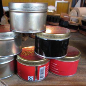 Læderfedt i 3 farver, brun, sort og farveløs