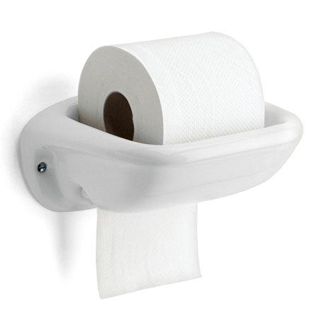 Toiletrulle holder i hvid porcelæn