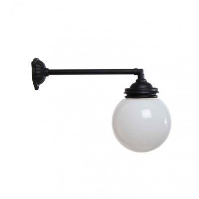 Udendørslampe Alfred lang med kuppel