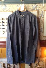 Bondeskjorte uden krave i 100% bomuld