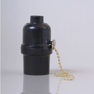 Fantastisk Bakelit fatning med træk og slip messing kæde afbryder UQ37