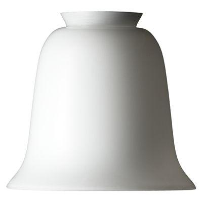 Klokkependel i hvid opalglas