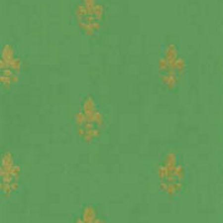 Tapet Fransk Lilje - grøn guld