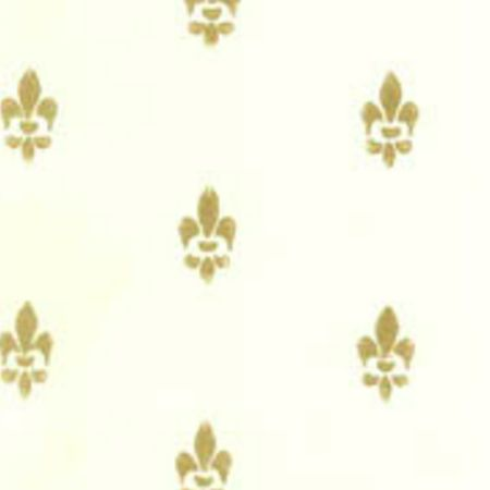Tapet Fransk Lilje - hvid guld