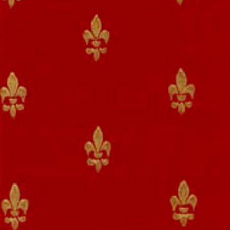 Tapet Fransk Lilje - rød guld
