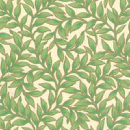 Tapet Bladmönster - Grøn