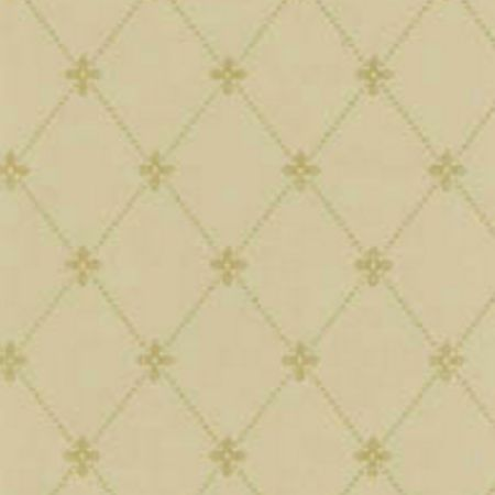 Tapet Filipsborg - Guld på lys brun