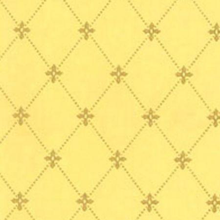 Tapet Filipsborg - Guld på lys gul