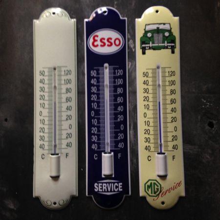 Emalje termometer i flere farver og med reklamer