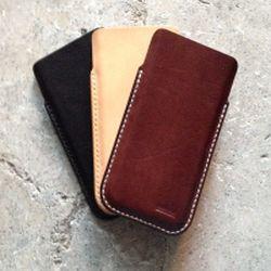 iPhone cover 6 eller 6s i håndsyet læder