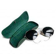 Pilot solbriller i metal med farvet glas