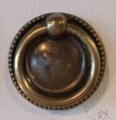 Ringbeslag messing med perlekant