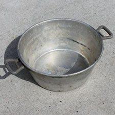 Vaskebalje i alumminium