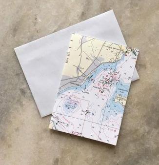 Dobbelt kort med søkort
