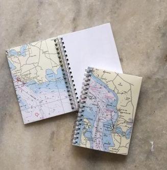 Notesbog med søkort