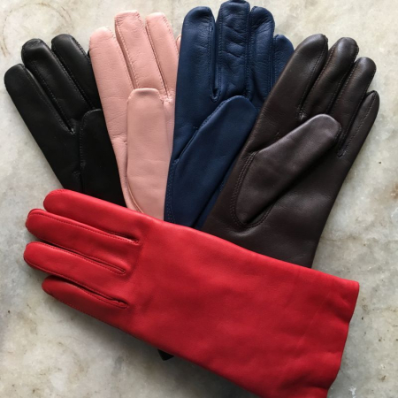 Handsker - lammeskind med uld for