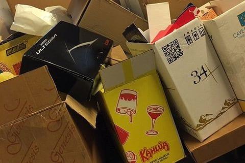 Papkasser til genbrug og emballage