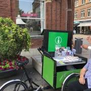 Cykelende turistinformation