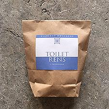 Toiletrens i pulverform
